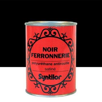 Peinture ferronnerie extérieur SYNTILOR, noir, 0.75 l