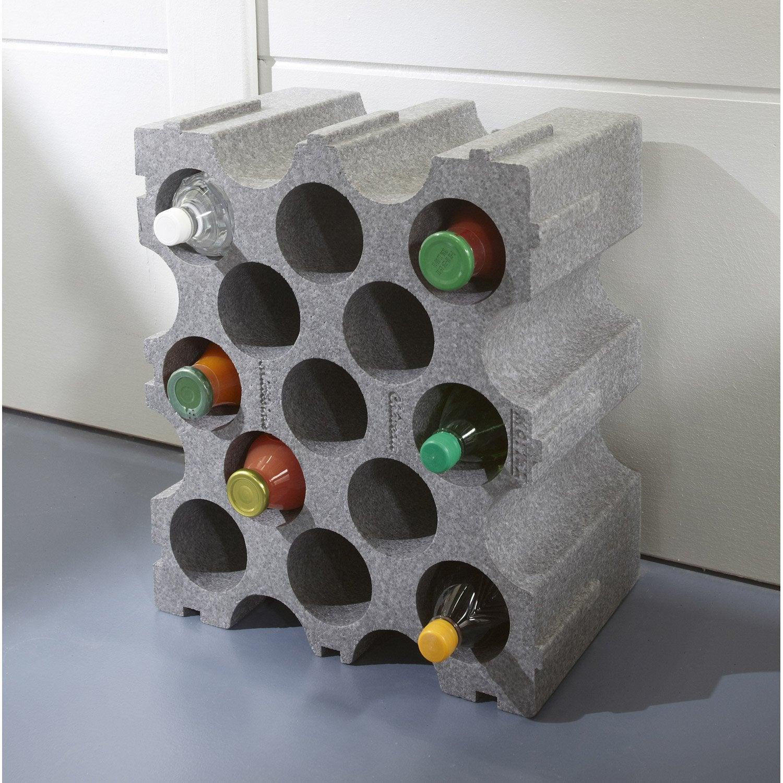 casier bouteille polystyrene noir