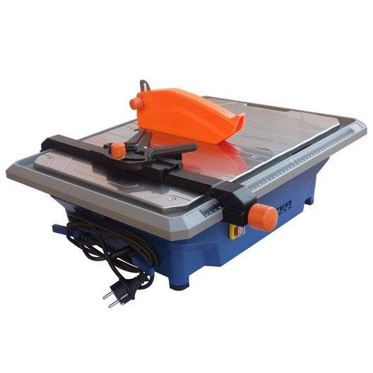 Coupe carreaux electrique dexter 800 w mm leroy merlin for Scie a eau carrelage