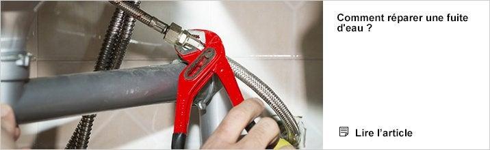 Comprendre Comment réparer une fuite d'eau ?