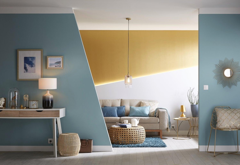 Salon Noir Blanc Jaune un couloir contrasté jaune, blanc et noir | leroy merlin