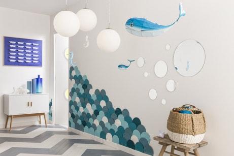 Une fresque marine pour habiller votre entrée