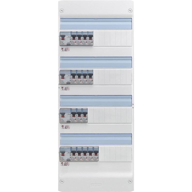 Tableau électrique équipé Et Précâblé Legrand 4 Rangées 52 Modules