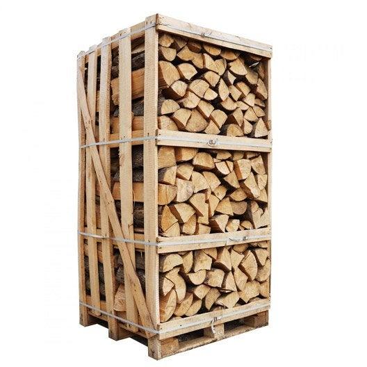 bois de chauffage l.30 cm, palette 2 m³, 1 box | leroy merlin