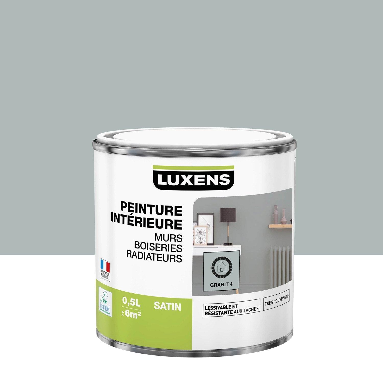 Peinture, mur, boiserie, radiateur, Multisupports LUXENS, granit 4, satin, 0.5 l