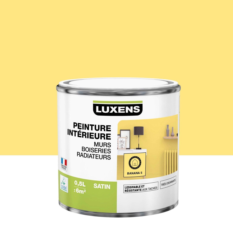 Peinture, mur, boiserie, radiateur, Multisupports LUXENS, banana 5, satin, 0.5 l