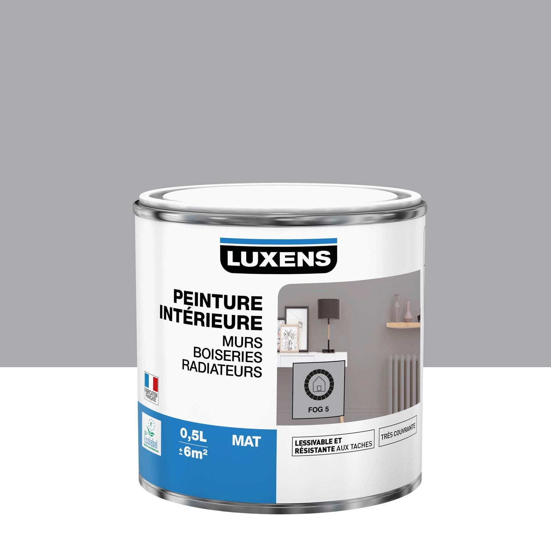 Peinture mur, boiserie, radiateur Multisupports LUXENS, fog 5, 0.5 l, mat