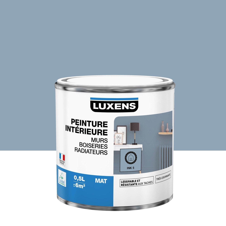 Peinture mur, boiserie, radiateur Multisupports LUXENS, ink 5, 0.5 l, mat