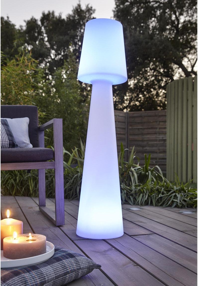 Eclairage De Terrasse Sur Pied lampadaire extérieure lola 110 cm g13 1600 lumen blanc newgarden