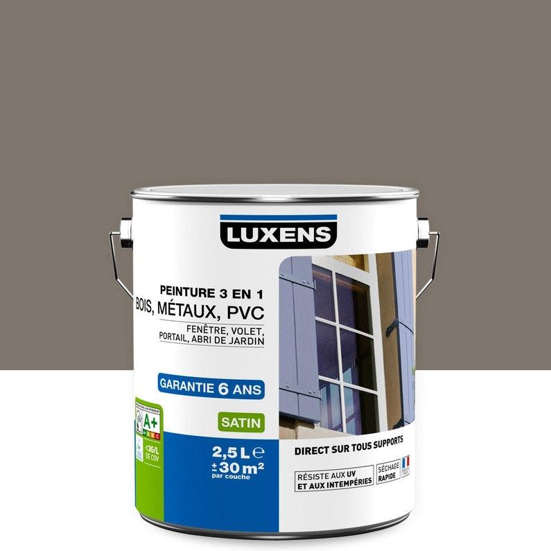 Peinture Multimatériau Extérieur 3 En 1 Luxens Brun Taupe N 3 2 5 L