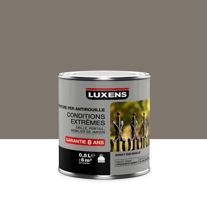 Peinture Fer Extérieur Antirouille Luxens Brun Taupe N3 05 L