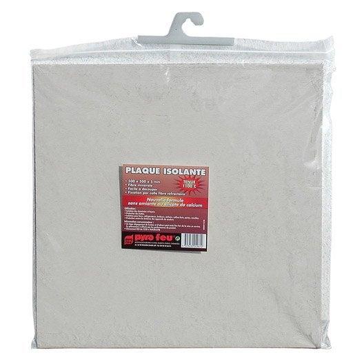 plaque isolante pour hotte en fibre de roche blanc pyrofeu. Black Bedroom Furniture Sets. Home Design Ideas