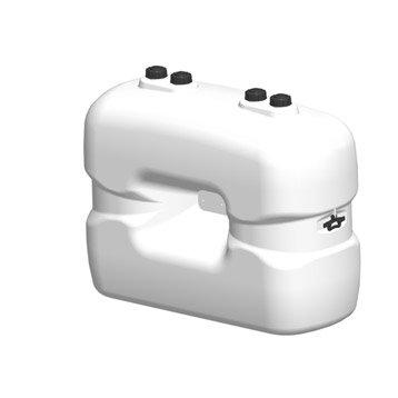 Réservoir à fuel polyéthylène 1000L, blanc, SOTRALENTZ