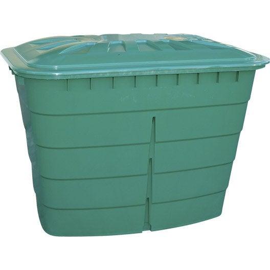 cuve à eau rectangulaire vert 520 l garantia   leroy merlin