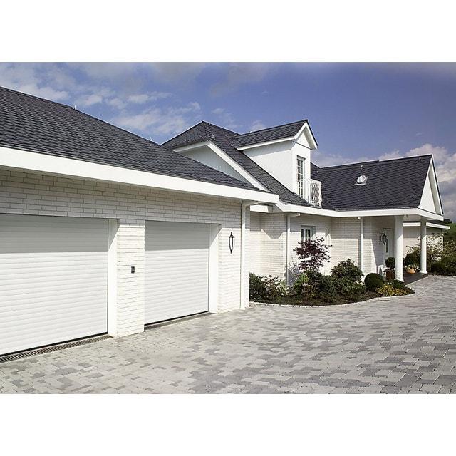 double portes de garage blanches en aluminium leroy merlin. Black Bedroom Furniture Sets. Home Design Ideas