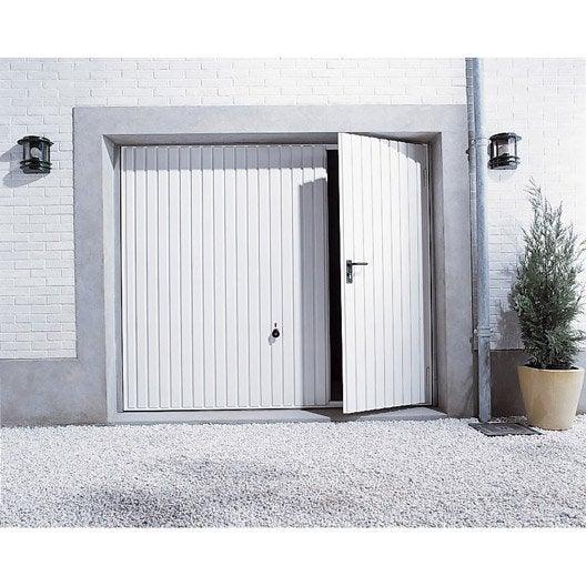 Porte De Garage Au Meilleur Prix Leroy Merlin - Porte de garage sectionnelle avec portillon tarif