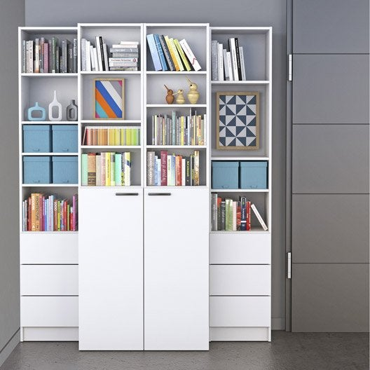 Bibliothèque SPACEO Home, blanc  Leroy Merlin