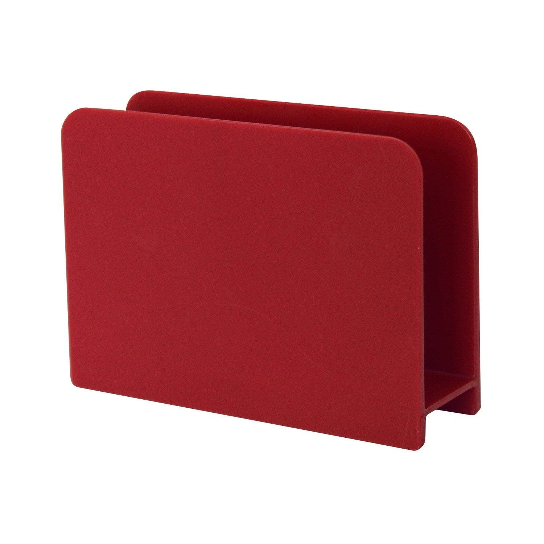 Porte-éponge plastique aspect gomme rouge-rouge n°3