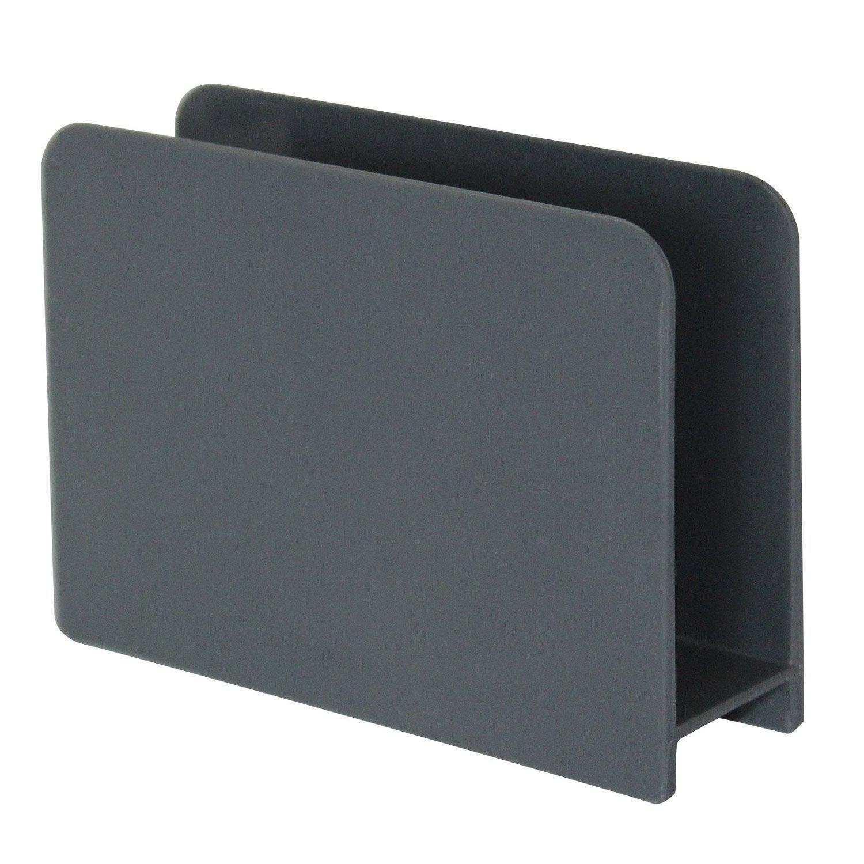 Porte-éponge plastique aspect gomme gris-gris n°1