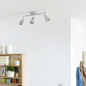 Rampe 3 spots sans ampoule, 3 x GU10, chrome Sabi INSPIRE