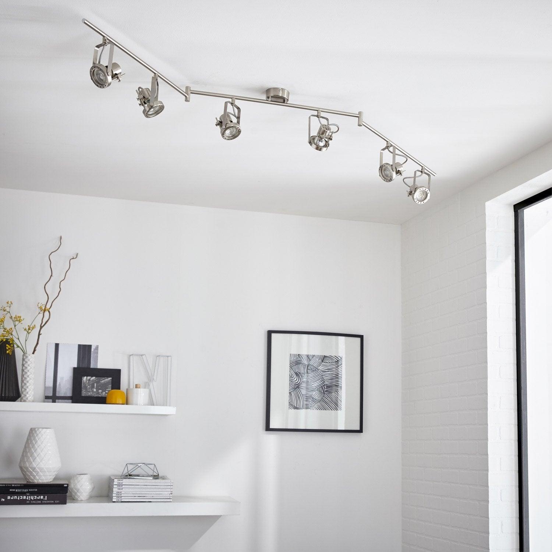 rampe 6 spots industriel technic 6 xgu10 acier inspire leroy merlin. Black Bedroom Furniture Sets. Home Design Ideas