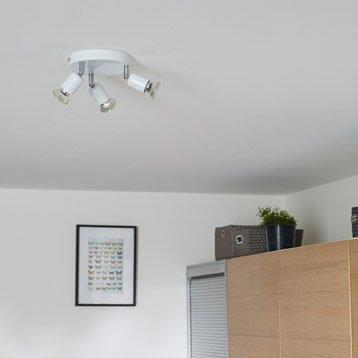 Plafonnier 3 spots sans ampoule, 3 x GU10, blanc Basic INSPIRE