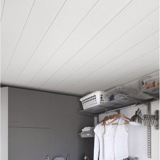 lambris pvc blanc brut grosfillex line 3000 x. Black Bedroom Furniture Sets. Home Design Ideas