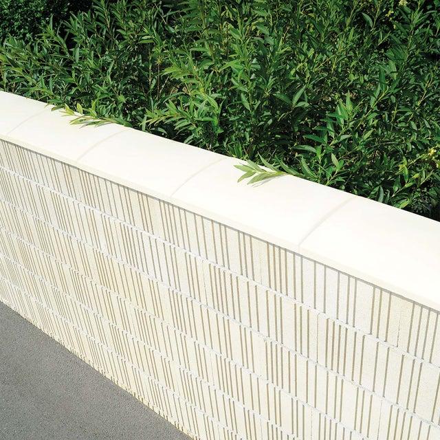 Couvre Mur Arrondi Pressé Ton Pierre H5 X L28 X P50 Cm