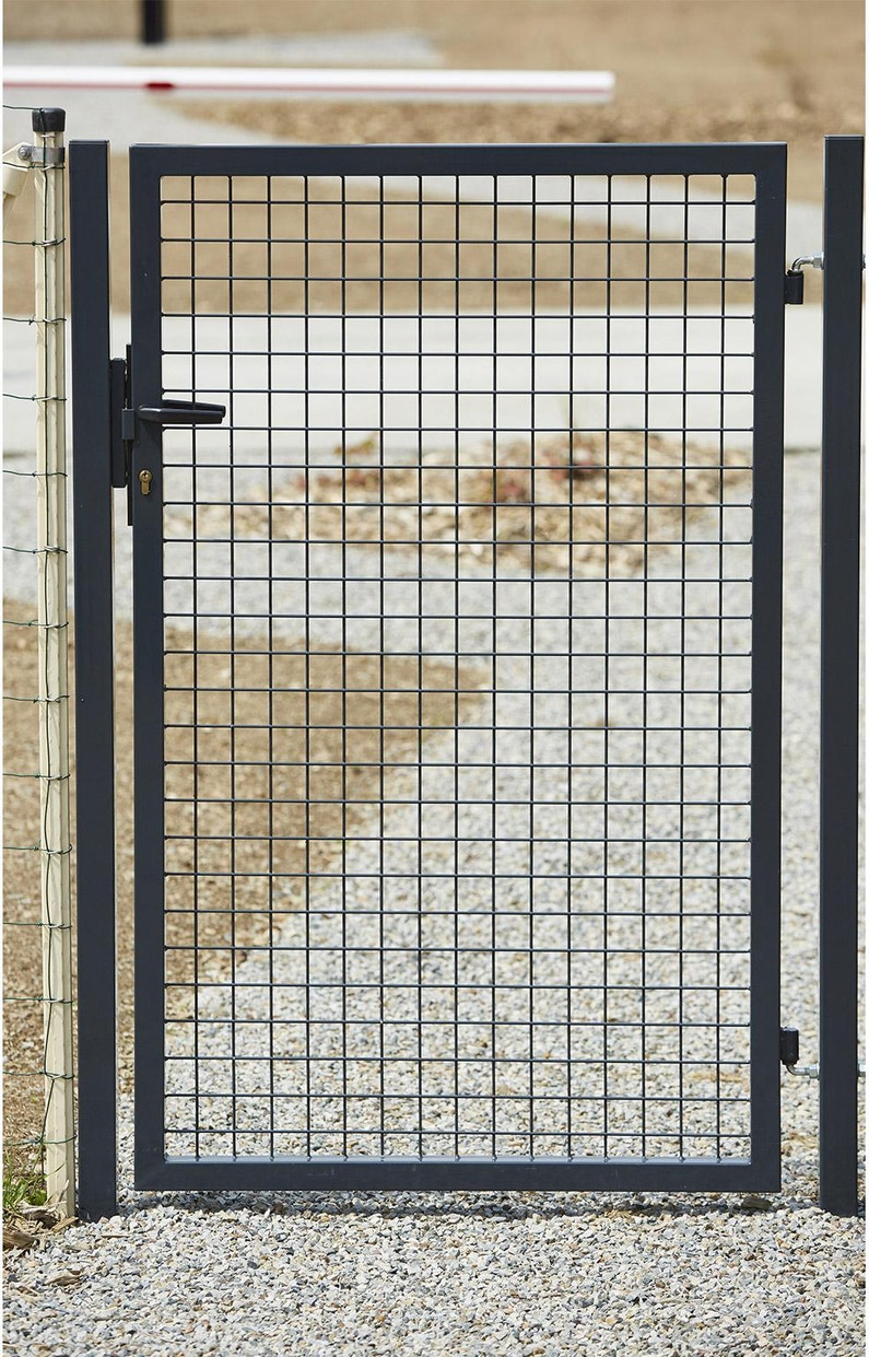Portillon Grillagé Eco Garden L102 X H125 Cm Gris