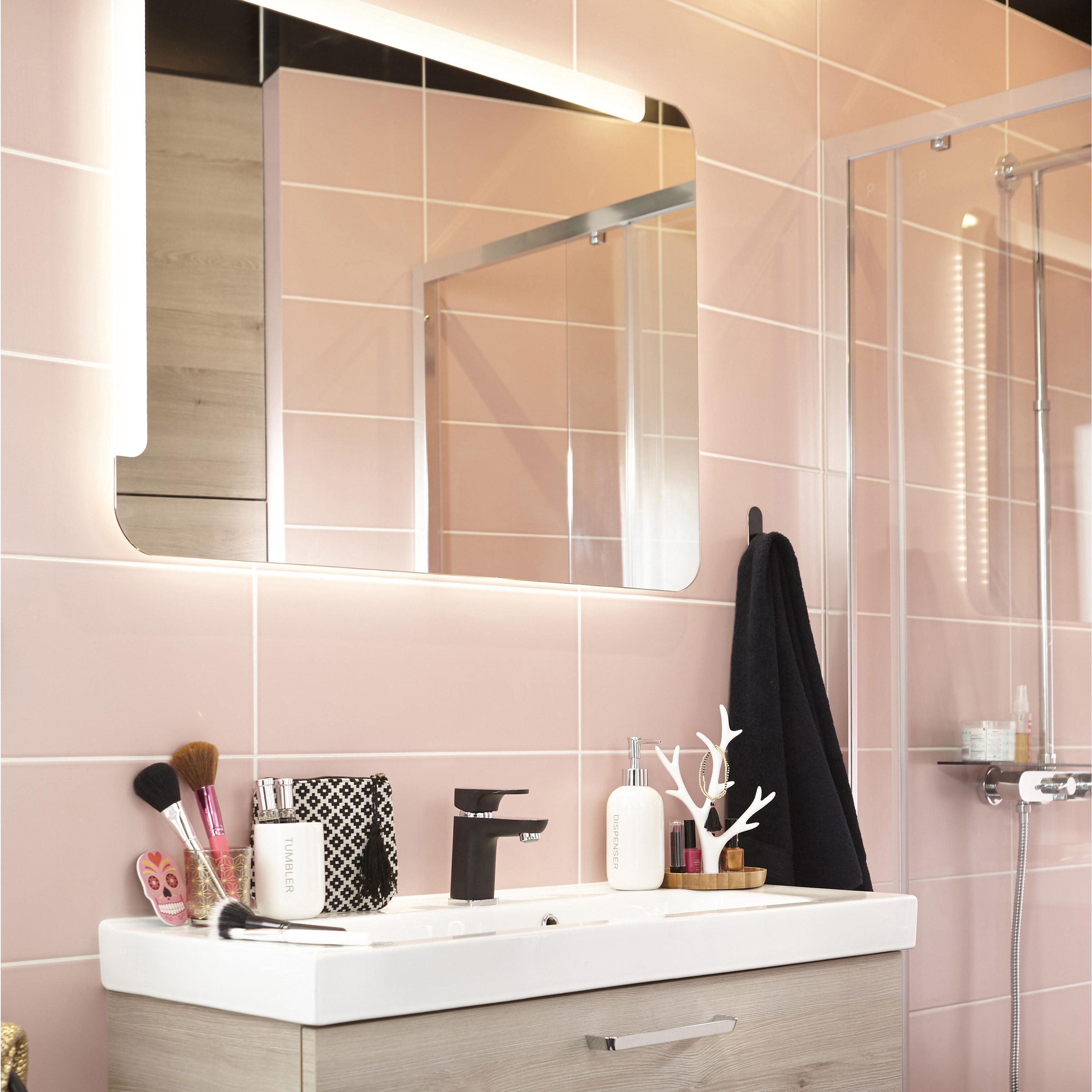 Faïence mur rose blush n°5 mat l.20 x L.50.2 cm, Loft