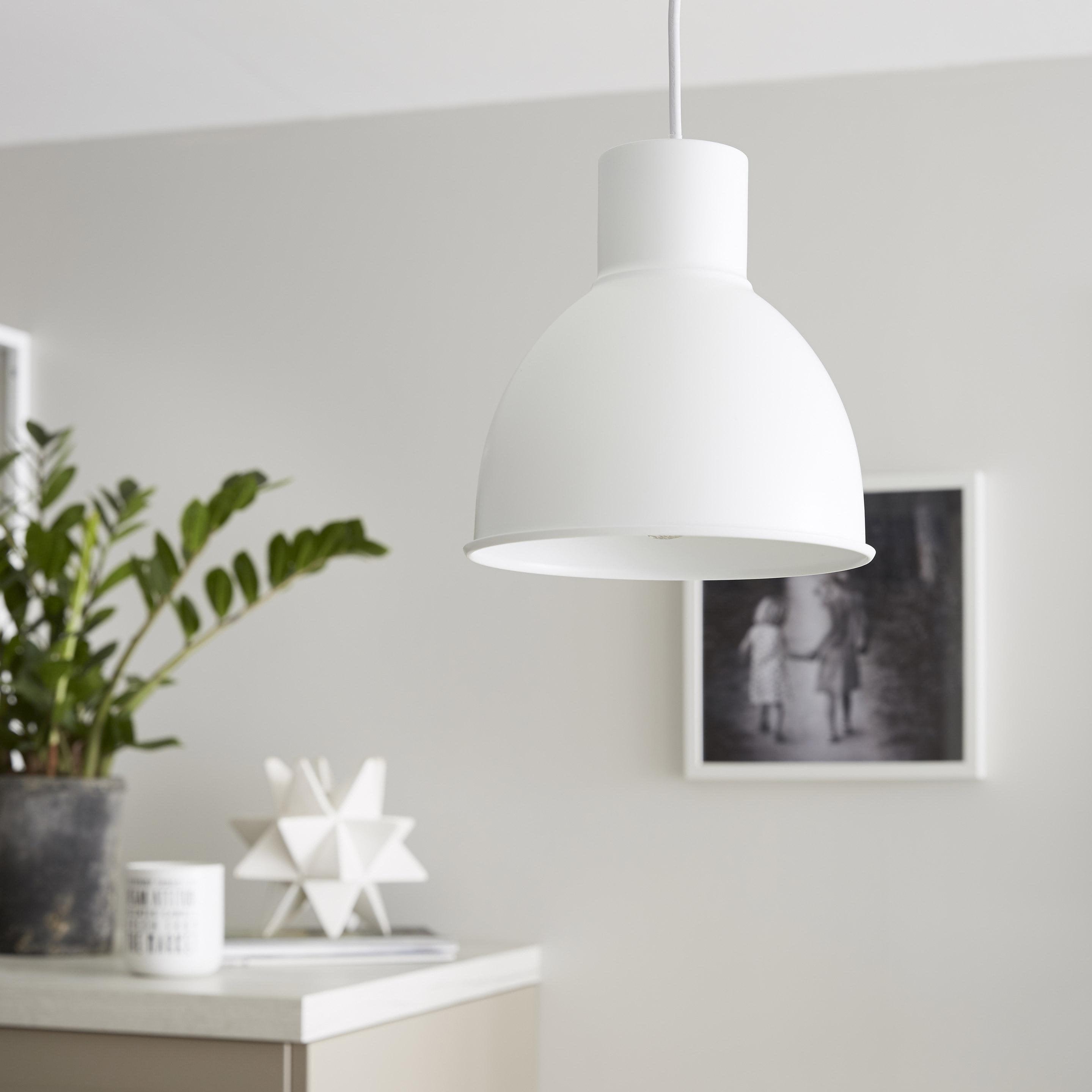 Suspension, essentiel métal blanc INSPIRE Melga 1 lumière(s) D.20 cm