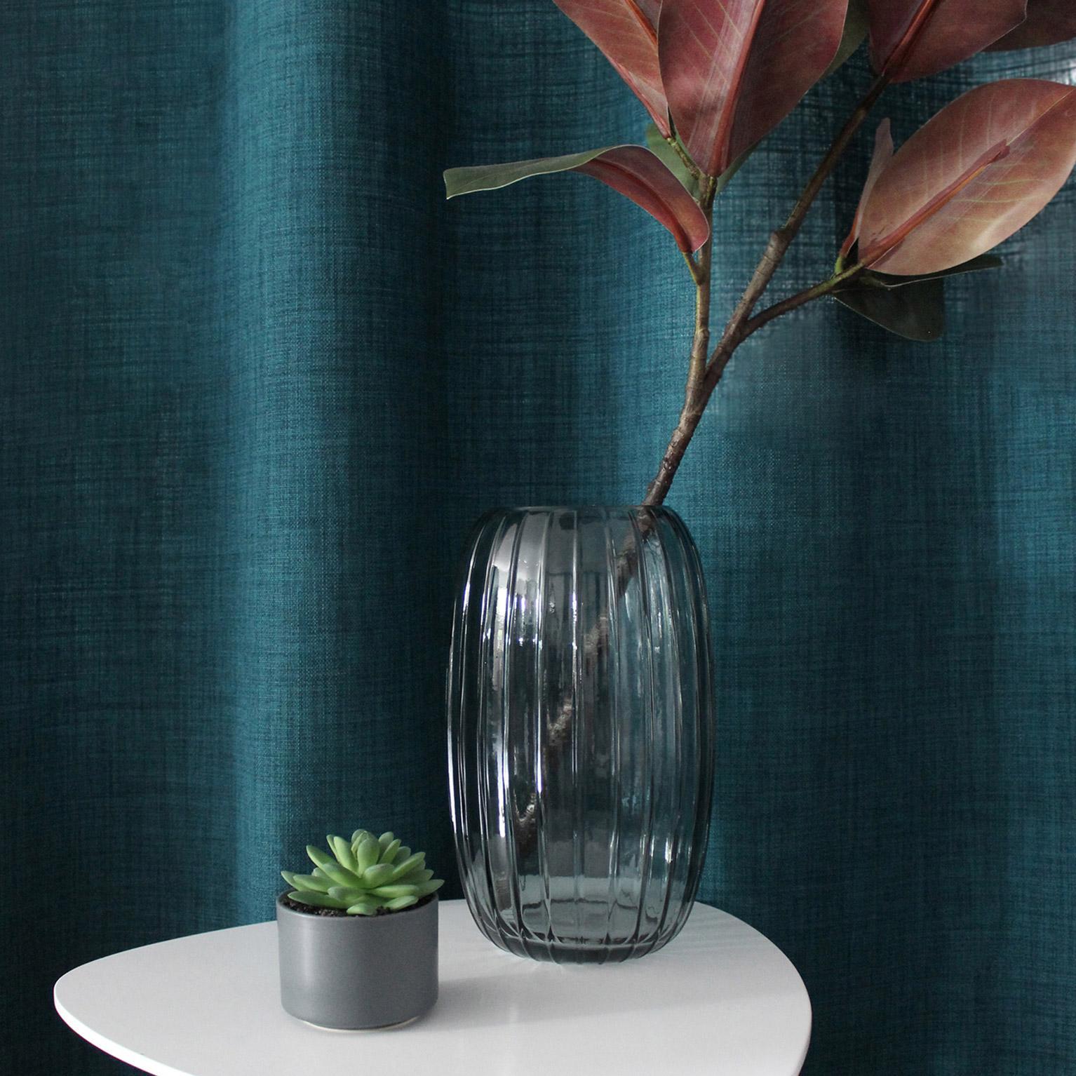 Vase décoratif verre Nell, vert l.15 x H.25.5 cm