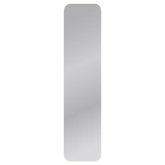 Miroir non lumineux d coup carr avec coins arrondis x cm poli leroy merlin - Miroir a la coupe castorama ...