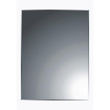 Miroir non lumineux découpé rectangulaire l.45 x L.60 cm Biseauté