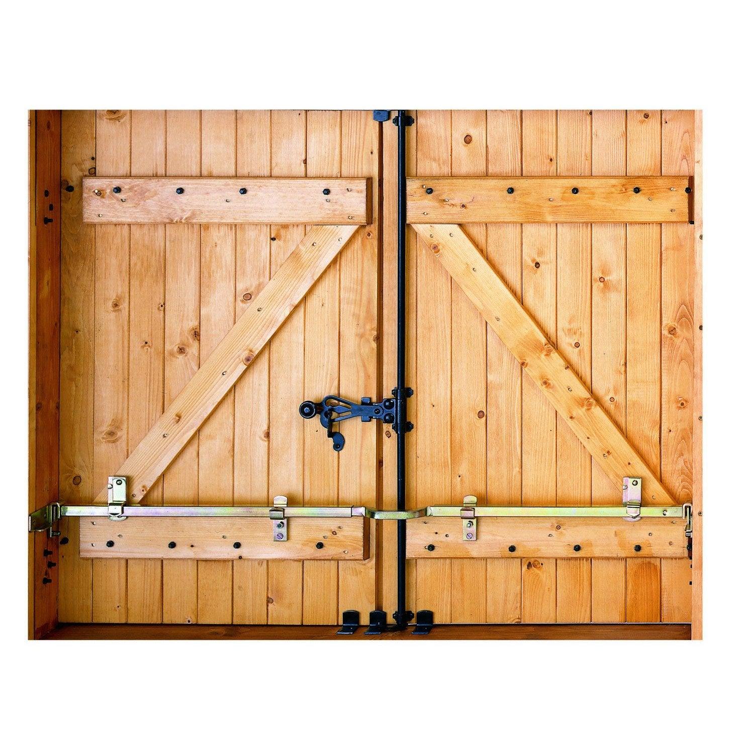 Barre De Sécurité En Acier Zingué Pour Volets L Cm Leroy Merlin - Barre de sécurité porte de garage