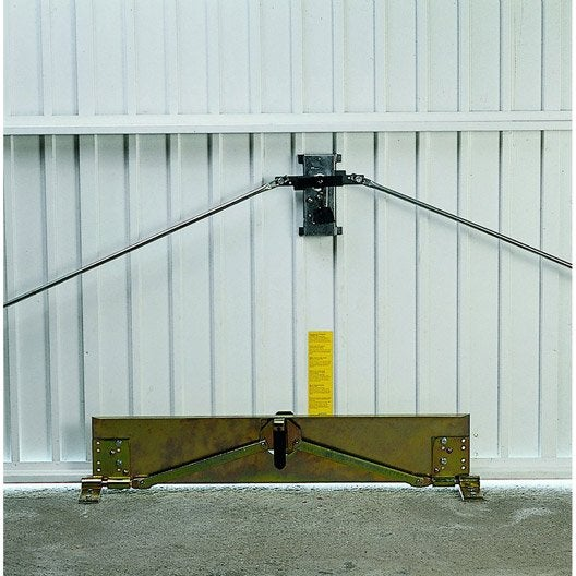 barre de sécurité en acier epoxy pour portes de garage | leroy merlin - Serrure Porte De Garage Basculante Leroy Merlin