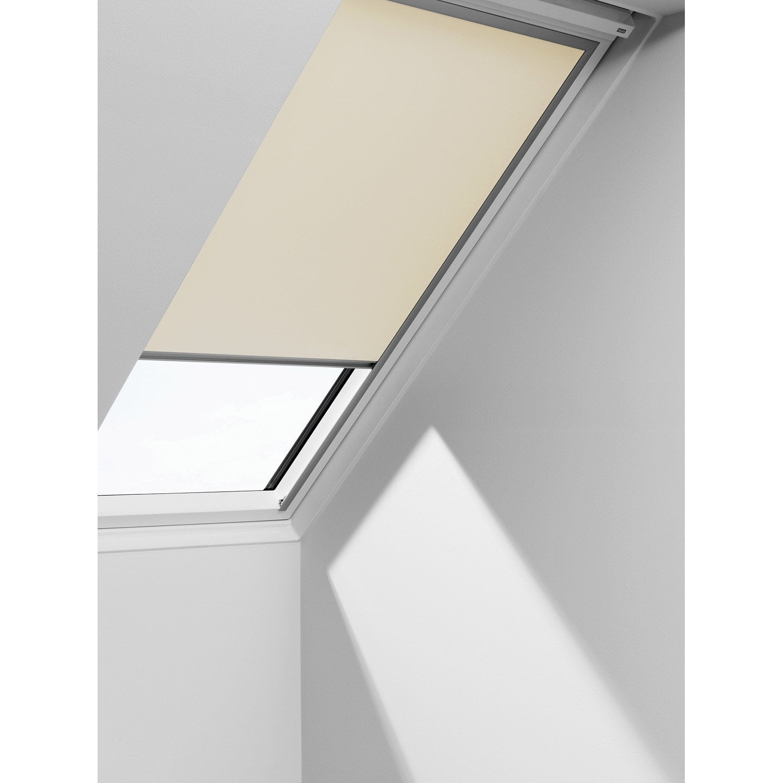 store fen tre de toit occultant beige velux dkl c01 leroy merlin. Black Bedroom Furniture Sets. Home Design Ideas