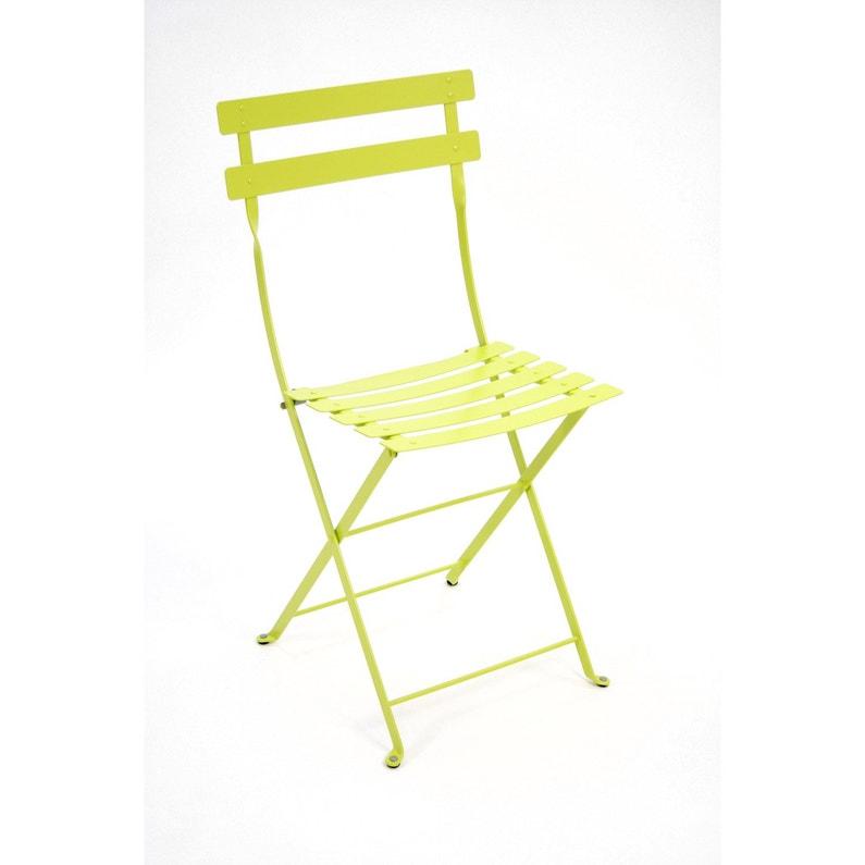 chaise de jardin en acier bistro verveine - Chaise Acier