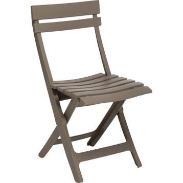 Chaise De Jardin En Rsine Miami Taupe