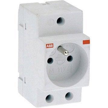 Prise modulaire 2 P + T ABB 16 A