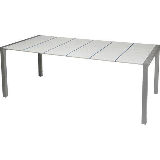 table de jardin grosfillex sunday rectangulaire bleu. Black Bedroom Furniture Sets. Home Design Ideas