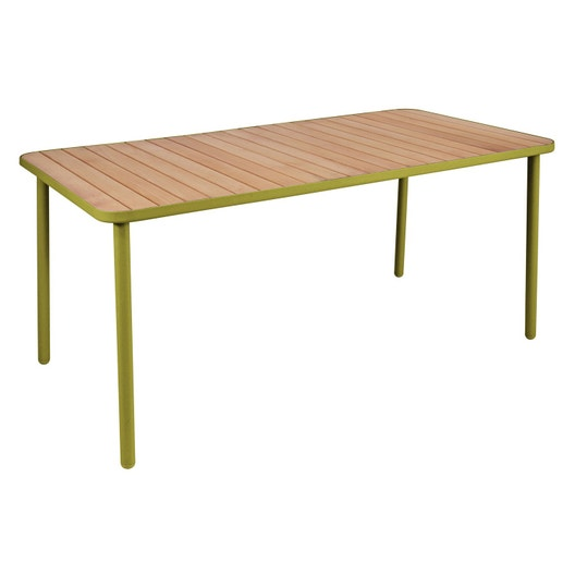 table de jardin hata rectangulaire vert 8 personnes leroy merlin. Black Bedroom Furniture Sets. Home Design Ideas