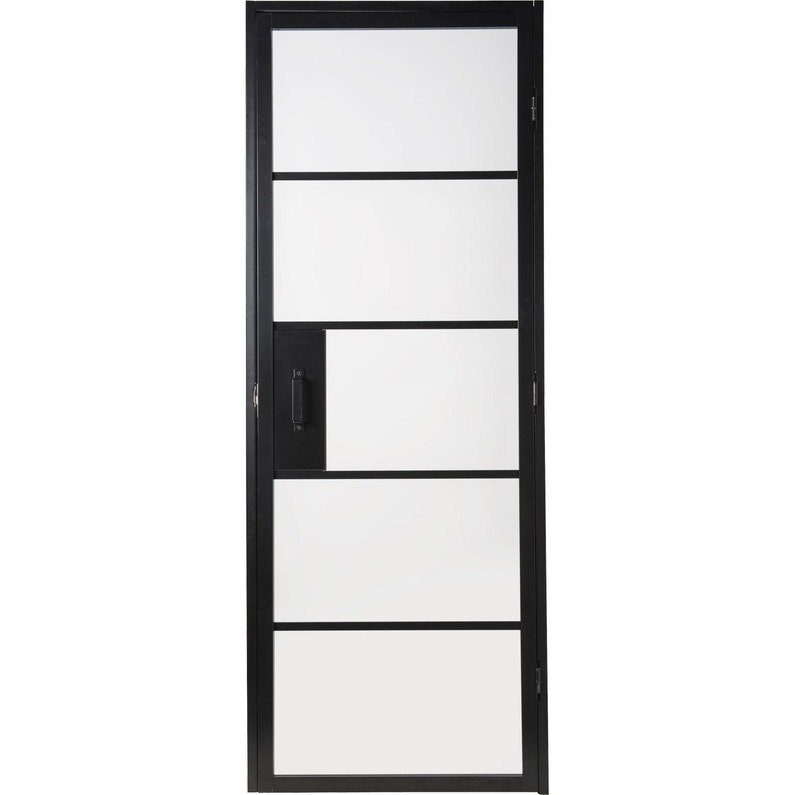 Bloc Porte Laquée Noir Chloé Artens H 204 X L 73 Cm Poussant Gauche