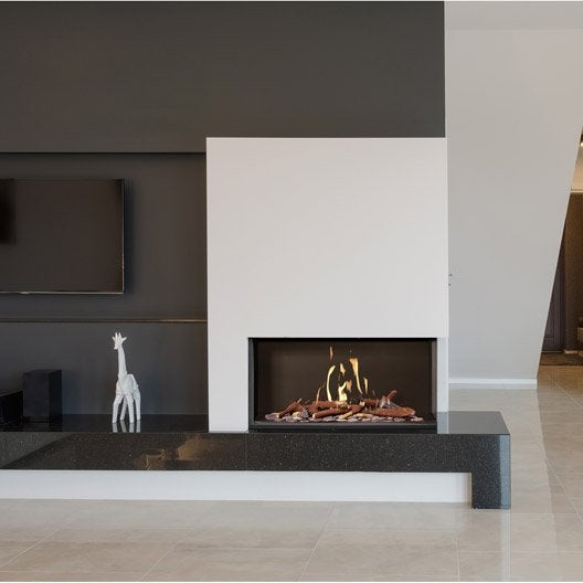 insert au gaz propane ug11 vitre droite 9 5 kw leroy. Black Bedroom Furniture Sets. Home Design Ideas