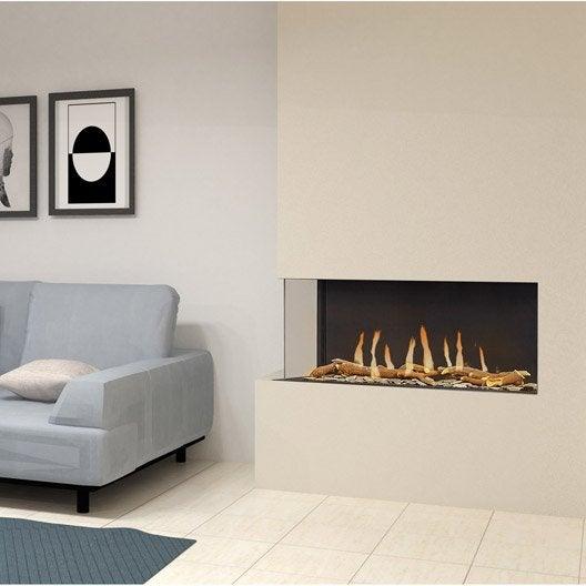 insert au gaz propane ug11 vitre gauche 9 5 kw leroy merlin. Black Bedroom Furniture Sets. Home Design Ideas