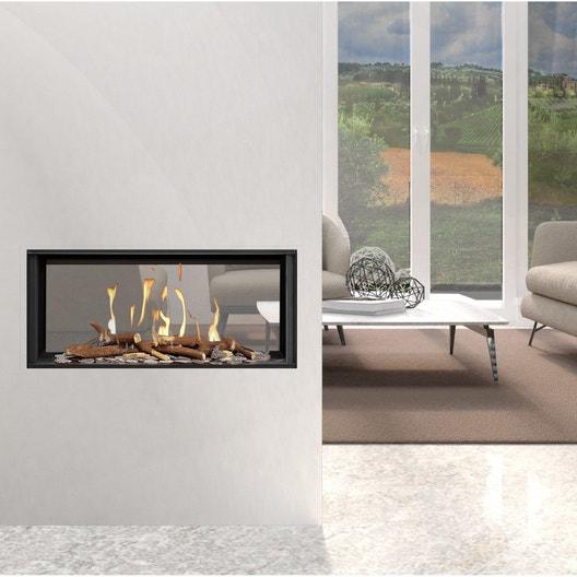 insert au gaz propane ug11 2 vitres face face 9 5 kw leroy merlin. Black Bedroom Furniture Sets. Home Design Ideas