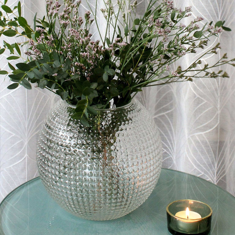 Vase décoratif verre Aloye, incolore / transparent, Diam.20 cm x H.18 cm