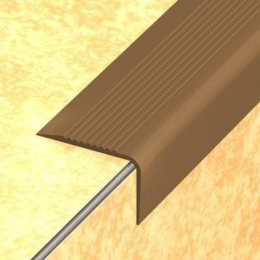 nez de marche pvc marron x l 6 5 cm leroy merlin. Black Bedroom Furniture Sets. Home Design Ideas