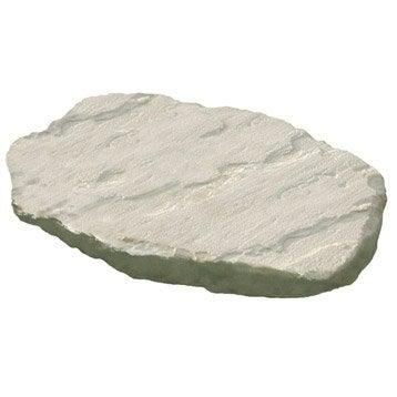 Pas japonais St flour en pierre reconstituée crème, L.45 x l.35 x Ep.3.5 cm