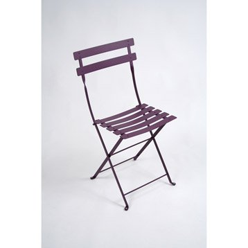 Chaise de jardin en acier Bistro aubergine